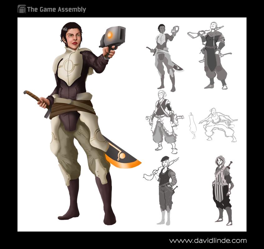 female huntsman by david linde