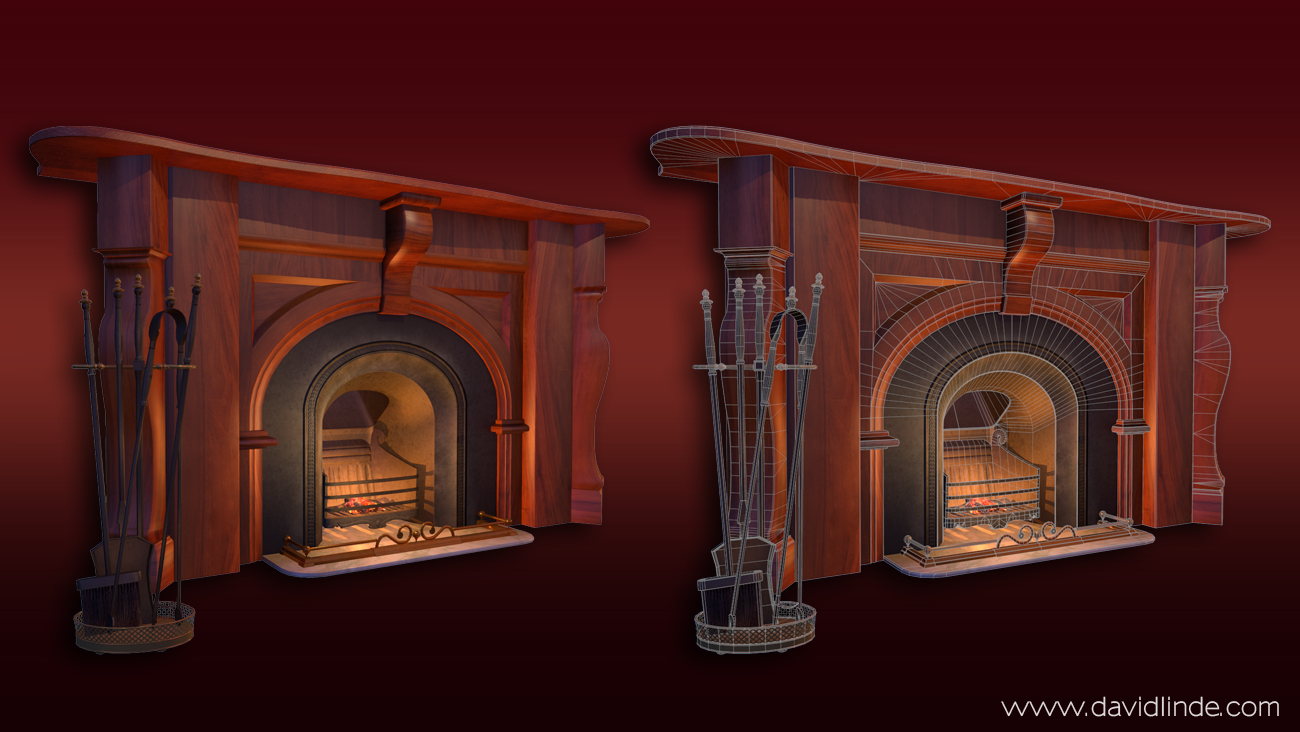 studyroom fireplace by david linde